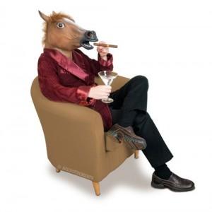 horse head-sitting
