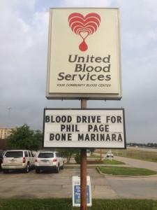 BloodDriveSign